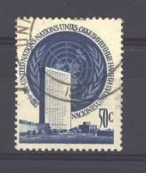 NU-ONU -  New York  -  1951  :  Yv  10  (o) - New-York - Siège De L'ONU