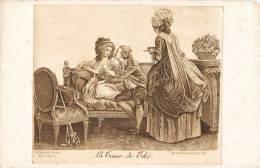 """GRAVURE EAU-FORTE DE REVELLAT PARIS """" LA TASSE DE THE """" GRAVEUR IMPRIMEUR - Illustrateurs & Photographes"""