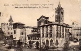 1911 CARTOLINA  CON  ANNULLO A BANDIERA ESPOSIZIONE 1911  ROMA  ESPOSIZIONE REGIONALE ETNOGRAFICA  P.ZZA D´ARMI - Mostre, Esposizioni