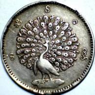 1852,   BURMA,  SILVER, 1 KYAT(LIKE RUPEE) COIN.   **RARE** - **SCARCE** - Myanmar
