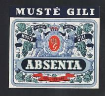 Etiquette D´ Absinthe MUSTE GILI (12 X 10´5 Cms) (Ref.47698) - Labels