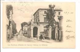 92  -  MEUDON  - Les Pavillons D'entrée De L'ancien Château De  BELLEVUE  -  Carte Précurseur   - Petite Animation - Meudon