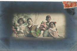 2 Couples Enfants Colorisée RPH Tres Jolie - Children And Family Groups