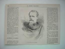 GRAVURE 1871. LE GENERAL DE CHARETTE. AVEC EXPLICATIF. - Vieux Papiers