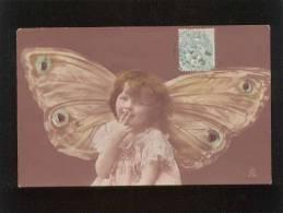 Enfant Fillette Aux Ailes De Papillon Réhaussée à La Peinture édit. RTS - Enfants