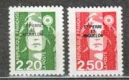 SAINT PIERRE ET MIQUELON NEUF ** N° 552-553 Marianne Du Bicentenaire - St.Pierre & Miquelon