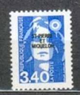 SAINT PIERRE ET MIQUELON NEUF ** N° 555 Marianne Du Bicentenaire - St.Pierre & Miquelon