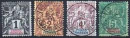 CONGO FRANCAIS Poste  12 à 15 (o) Type Groupe (CV 16,50 €) [ColCla] - Congo Français (1891-1960)