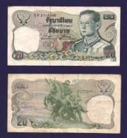 THAILAND 1981, Banknote Used VF, 20 Baht Km88 - Thailand