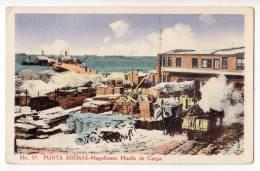 AMERICA CHILE PUNTA ARENAS MAGELLAN LOADING DOCK Nr. 17 OLD POSTCARD 1927. - Chile