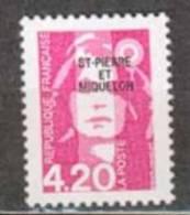 SAINT PIERRE ET MIQUELON NEUF ** N° 572 Marianne Du Bicentenaire - St.Pierre & Miquelon