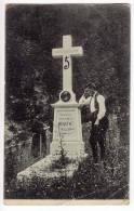 EUROPE BOSNIA KRESEVO MONUMENT TO FRA GRGO MARTIC FOLDED CORNER OLD POSTCARD 1908. - Bosnia And Herzegovina