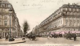 Paris - Boulevard Des Capucines, Le Café De La Paix Et Le Grand Hôtel - Unclassified