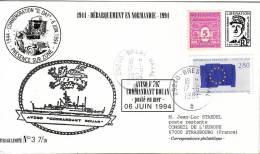 BREST NAVAL - AVISO COMMANDANT BOUAN - POSTE EN MER - PSEUDO ENTIER POSTAL DE GAULLE AVEC AFFRANCHISSEMENT DU 17-6-1994. - Poste Navale