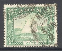 ADEN, 1937 ½As Dhow Fine Used - Aden (1854-1963)