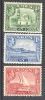 ADEN, 1939 ½A, 1A, Light Mounted Mint + 1½As (unused No Gum) - Aden (1854-1963)
