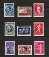Zegels 728 - 736 ** Postfris Aan 12.5% - Belgien