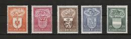 Zegels 756 - 760 ** Postfris Aan 12.5% - Belgien