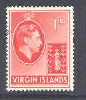VIRGIN ISLANDS, 1938 1d (ordinary Paper) Light Mounted Mint - Britse Maagdeneilanden