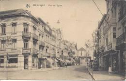 Ak Wenduyne Rue De L Eglise ,Stempel Kaiserliche Kommandantur  Feldpost - Wenduine