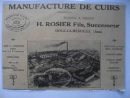 1925- DOLE LA BEDUGUE   -  MANUFACTURE CUIR ROSIER     (39) -Coupure De Presse Originale (encart Photo) - Historical Documents
