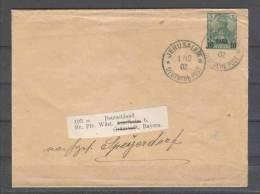 Deutsche Post In Der Türkei - Ganzsachen - Streifband  1.12.1902 / Jerusalem Nach Speigerdorf / Siehe Fotos - Offices: Turkish Empire