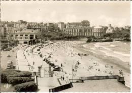 Francia--BIARRITZ--Carta Photo--La Grande Plage Vers Le Casino Bellevue---C.A.P. Nº 105 - Casinos