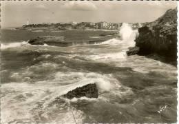 Francia--Biarritz--CartaPhoto--Vue Generale Prise Du Rocher De La Vierge--IVON Nº IB.1267 - Faros