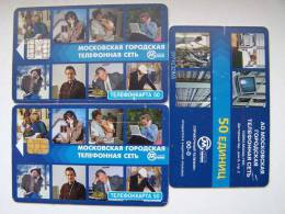 2 Different Chip Telephone Chatting Phone Cards Cartes Karten From RUSSIA Russie Russland Moscow - Telefoni