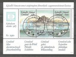 Greenland 1987 Block 1;  Used  In 1987             (gr159) - Gebraucht
