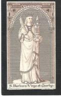 S.BARBARA: DOODSPRENTJE VAN MARIA TH.VANDER MOLEN ° ST.JOORIS WINGE 1864 + LEUVEN 1900 - Images Religieuses