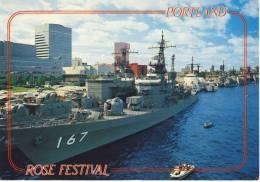 PORTLAND Oregon -  Navy Ships Lined Up On The Willamette River SHIP - Portland