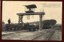 Top Cpa Du 22  Loudéac Le Transbordement à La Gare Des Marchandises Au Moyen De La Grue     MART2 - Loudéac