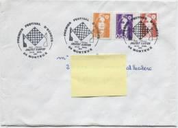 MONTEUX (Vaucluse)  Cachet à Date Illustré Sur N° 2619 + 2620 + 2629 (faux D´Aix En Provence) - Postmark Collection (Covers)