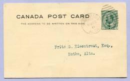 Post Card Canada Lacombe Experimantal Farm For Central Alberta To Botha Alta 1911 (597) - 1911-1935 George V