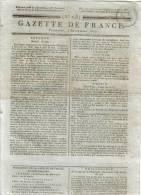 JOURNAL QUOTIDIEN GAZETTE DE FRANCE N° 248 DU 4 SEPTEMBRE 1807 - Ce Journal N´est Pas Une Reproduction - Kranten