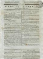 JOURNAL QUOTIDIEN GAZETTE DE FRANCE N° 252 DU 8 SEPTEMBRE 1807 - Ce Journal N´est Pas Une Reproduction - Kranten