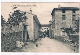 26- Sainte-Eulalie-en-Royans-route Des Grands Goulets Traversant Le Village - Francia