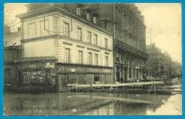 CPA 76 ROUEN 2 Février 1910 - La Crue De La Seine - Avenue Pasteur Et Quai Gaston Boulet ) C V - Rouen
