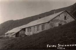 Ferme Steinwasen 1130m Carte-photo Metzeral Ferme-auberge - Non Classés