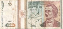 BILLETE DE RUMANIA DE 1000 LEI DEL AÑO 1993 (BANKNOTE) - Rumania