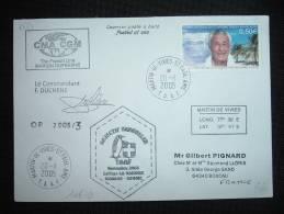 LETTRE TP PAUL-EMILE VICTOR 0,50E OBL. 20-11-2005 MARTIN DE VIVIES ST PAUL AMS T.A.A.F. + MARION DUFRESNE - Lettres & Documents