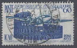 ITALIE - 1952 - N° 635 -  OBLITERE -  B - - 6. 1946-.. Republic