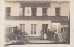 LE CATELET :Devanture Du Restaurant  SAUTHIEUX - Superbe Carte Photo ! Très Rare - - Autres Communes