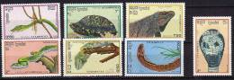KAMPUCHEA Reptiles + Tortue Turtle (Yvert N°844/50) Neuf Sans Charniere. MNH - Reptiles & Batraciens