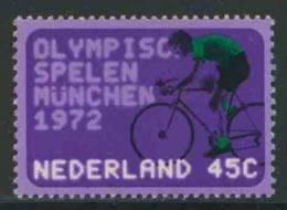 Nederland Netherlands Pays Bas 1972 Mi 993 YT 962 NVPH 1014 ** Cycling / Radfahren / Cyclisme / Wielrennen - Munich ´72 - Wielrennen