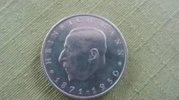 """DDR Sondermünze  """"Heinrich Mann 1871 - 1950""""  20 Mark  1971 - [ 6] 1949-1990: DDR"""