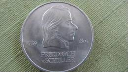 """DDR Sondermünze  """"Friedrich Schiller 1759 - 1805""""  20 Mark  1972 - [ 6] 1949-1990: DDR"""