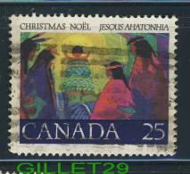 CANADA, STAMPS - CHRISTMAS-FIRST CHRISTMAS CAROL - CHRIST CHILD - SCOTT No 743 - USED - 0.25 CENTS - - 1952-.... Règne D'Elizabeth II