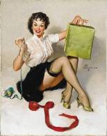 Poster Affiche Cartel Pin-Ups 50´s & 60´s Years Grand Format 32x37 Cm. REPRODUCTION - Afiches
